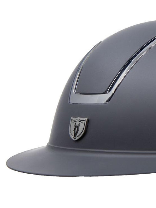 WINDSOR MIPS SMOKED CHROME TRIM Equestrian Helmet-Black