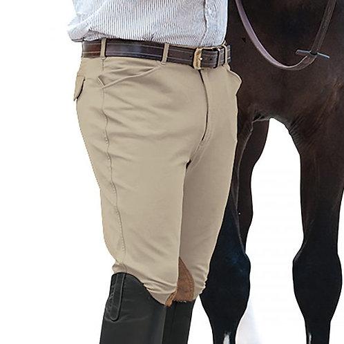 Mens EuroWeave™ Front Zip 4-Pocket Knee Patch Breeches 464416