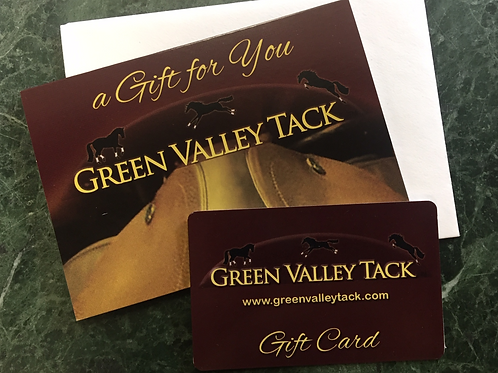 GREEN VALLEY TACK $ 350 GIFT CARD