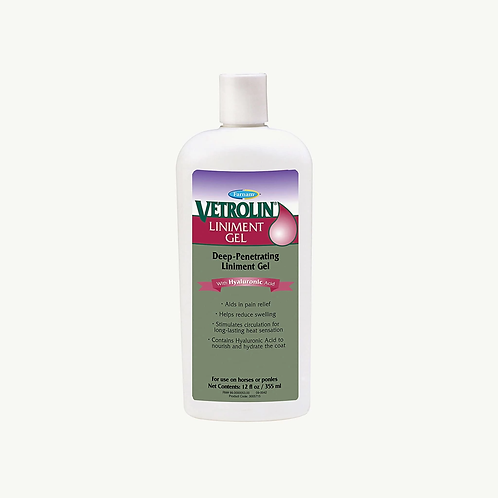 Farnam Vetrolin Liniment Gel with Hyaluronic Acid 12oz