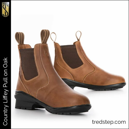 Tredstep Liffey Pull On Country Boots Oak