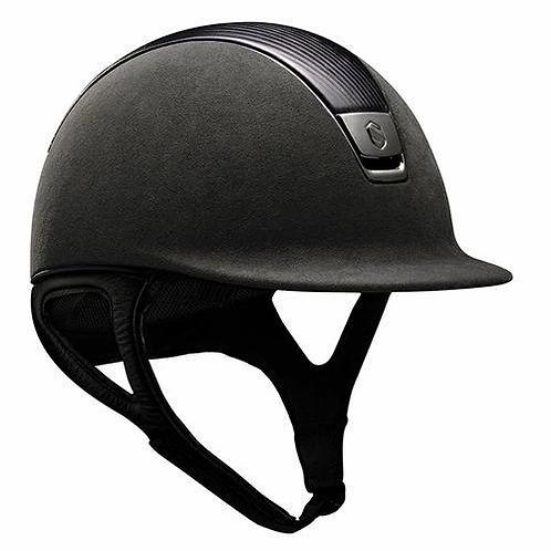 SamShield Helmet Premium Alcantara with Leather Top - Black