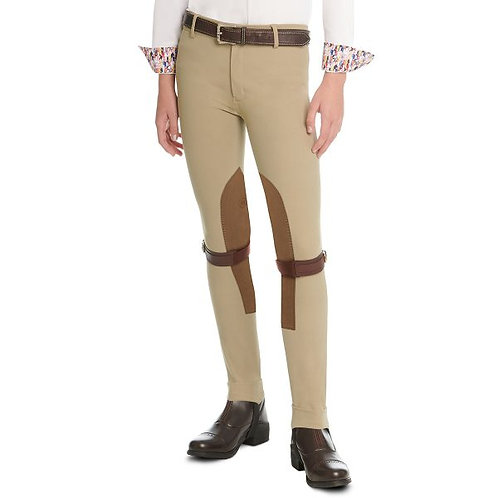 BELLISSIMA FRONT ZIP JODS WITH SYN-TECH™ STRETCH SUEDE CLASSIC BEIGE 470901
