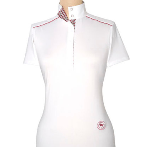 Essex Talent Yarn Short Sleeve w/Piping Show Shirts White w/Printed Collar