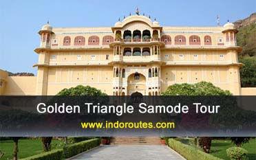 triángulo dorado con samode