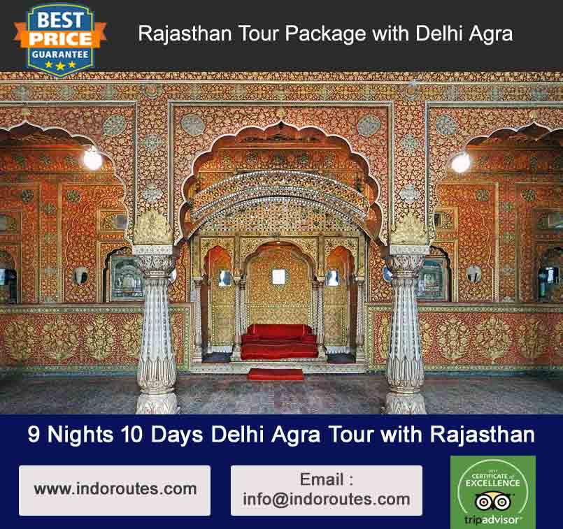 9 Nights 10 Days Delhi Agra Tour with Rajasthan