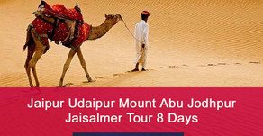 Rajasthan Tour Packages for 8 Days | Jaipur Udaipur Jaisalmer Tour Package for 8 Days