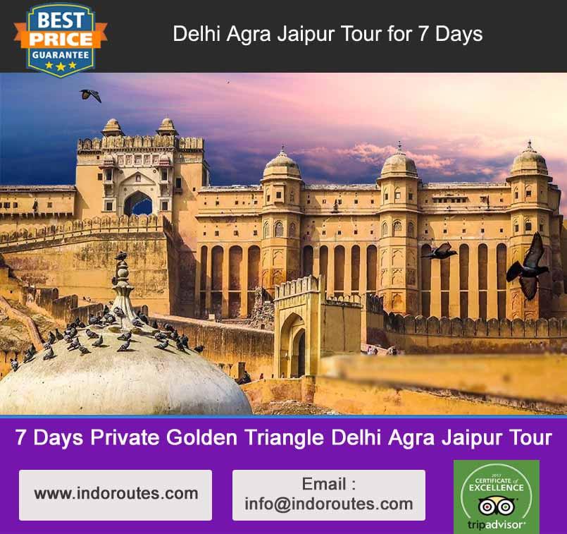 7 Days Private Golden Triangle Delhi Agra Jaipur Tour