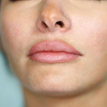 Healed blush lip tattoo done by Bella Ink Permanent Makeup in Portland Oregon