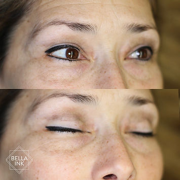Permanent eyeliner by bella ink permanent makeup in Portland Oregon