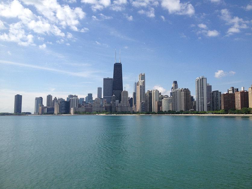 Chicago Skyline from North Av Beach.JPG