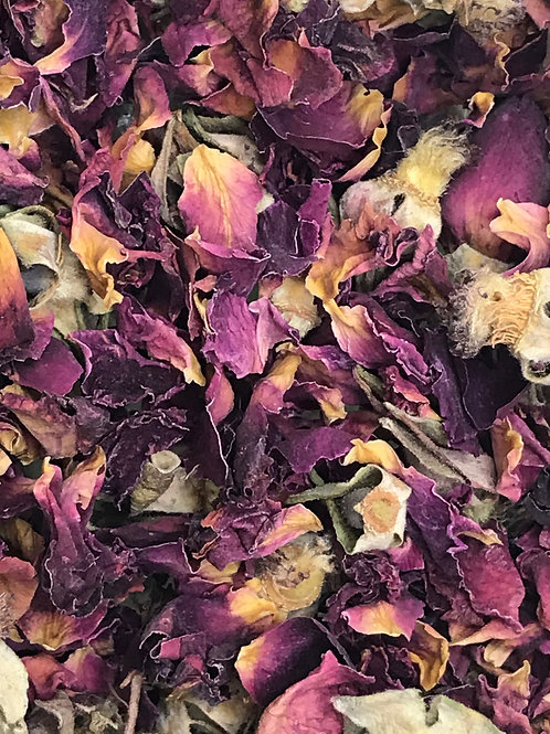 Red Rose Buds and Petals- Whole