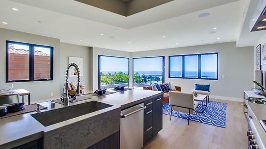 Linda Rosa Residential Kitchen. Custom Countertops designed by DC Concrete Countertops in San Diego California