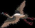 oiseau brodé