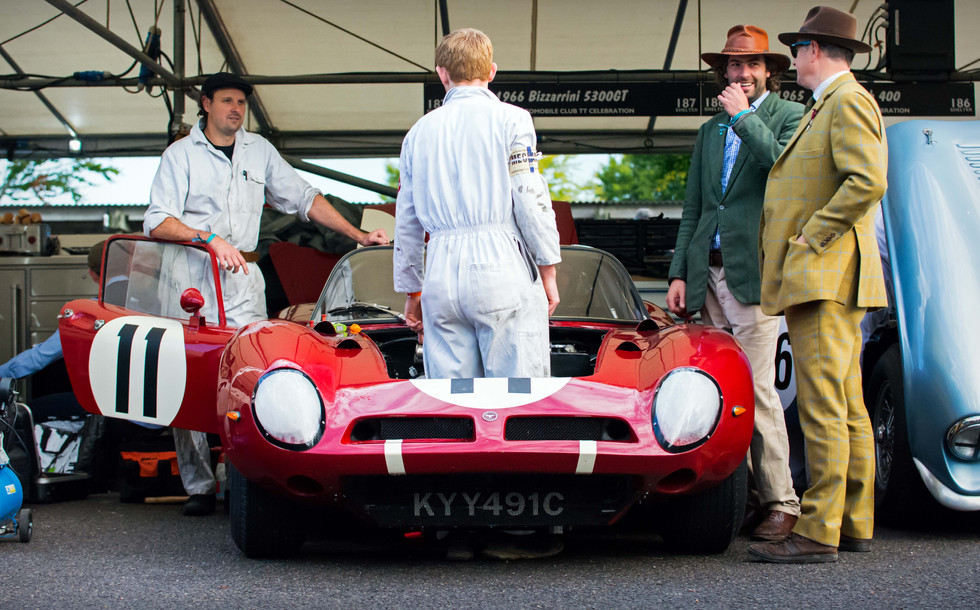 Andrew Hall & Jamie McIntyre's 1966 Bizzarrini 5300GT at the 2017 Goodwood Revival