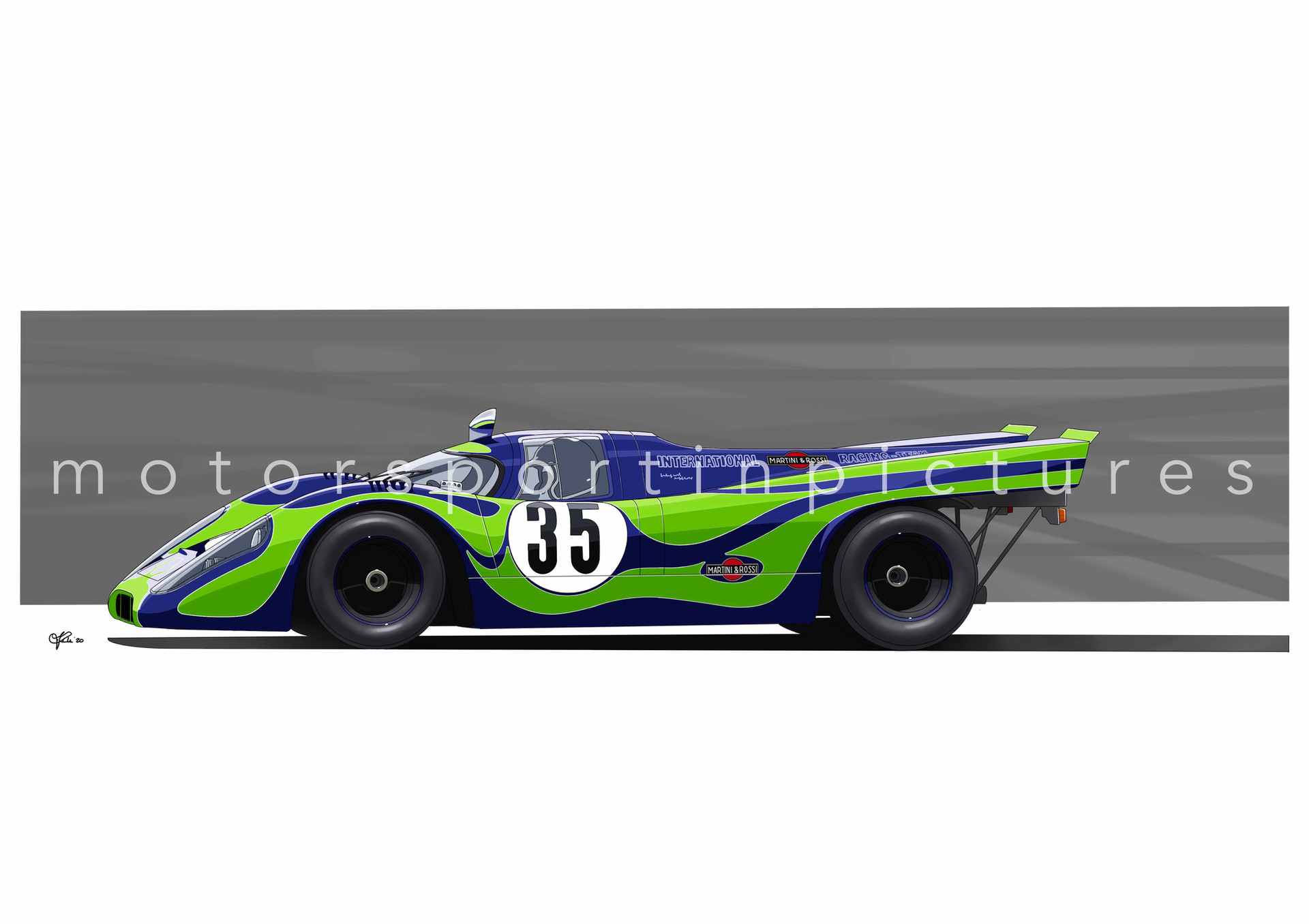 psychedelic martini racing porsche 917