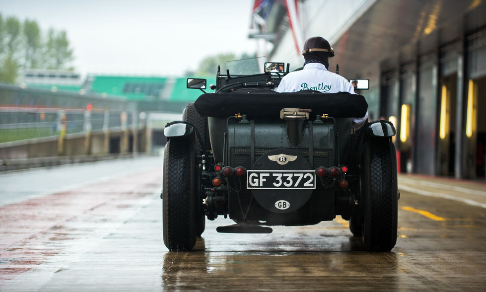 Blower Bentley at the 2018 Silverstone Classic Preview Day