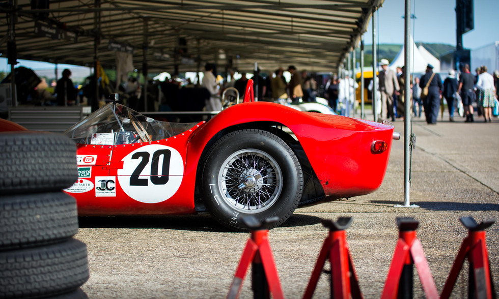 Stephan Rettenmaier's 1960 Maserati Tipo 61 Birdcage at the 2017 Goodwood Revival