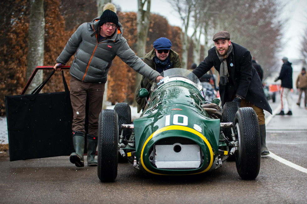 Guy Spollon & Charlie Martin's 1953 Connaught A-Type at the Goodwood 76MM