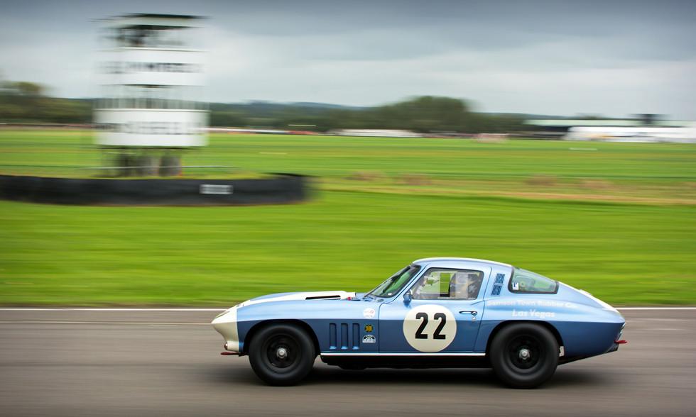 Sam Thomas Racing 1965 Chevrolet Corvette Stingray at the 2017 Goodwood Revival