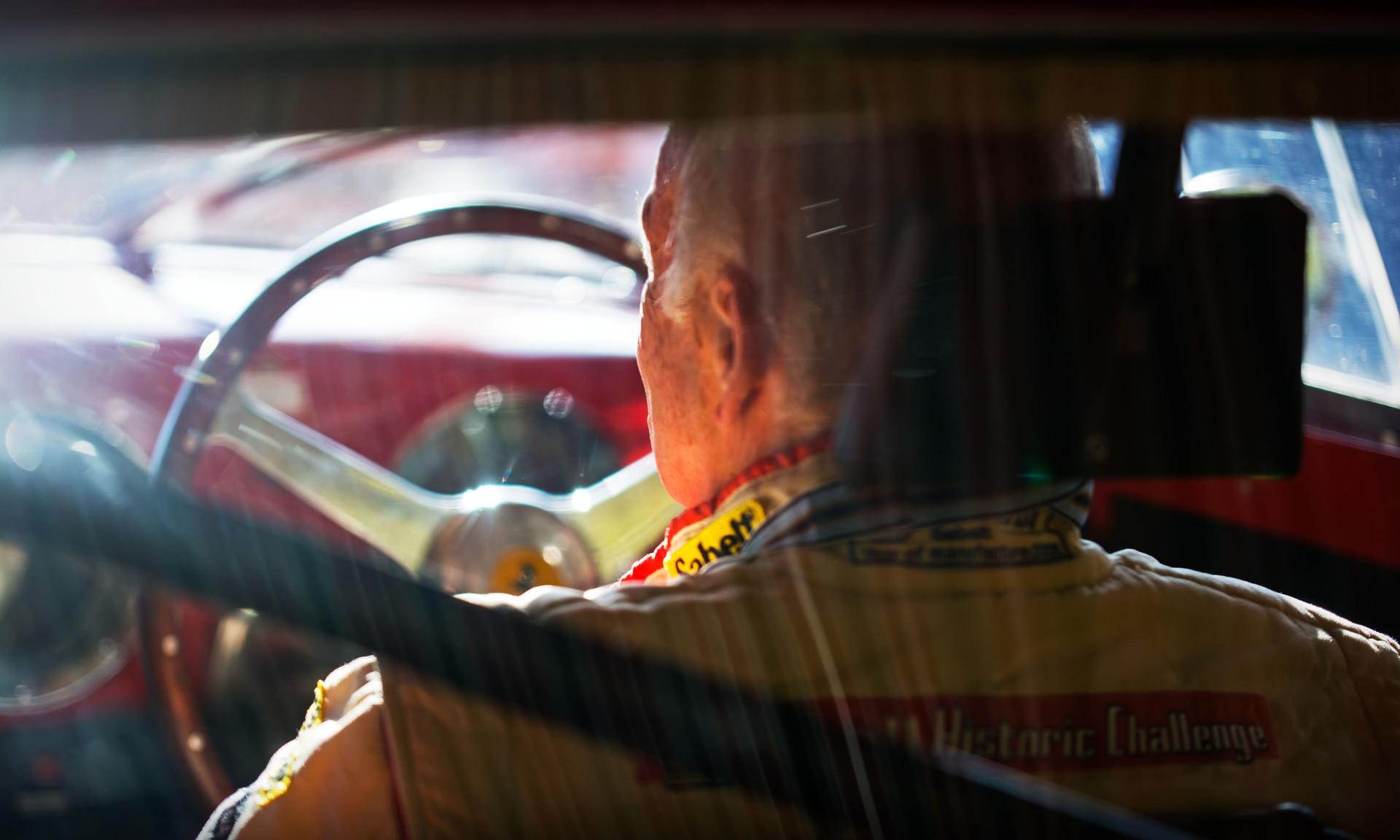 David Franklin in Arnold Meier's 1952 Ferrari 225S Vignale Berlinetta