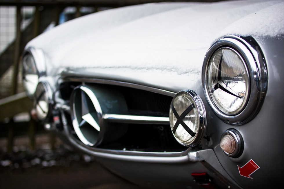 David Coulthard's 1955 IWC Racing Team Mercedes 300SL Gullwing at the Goodwood 76MM