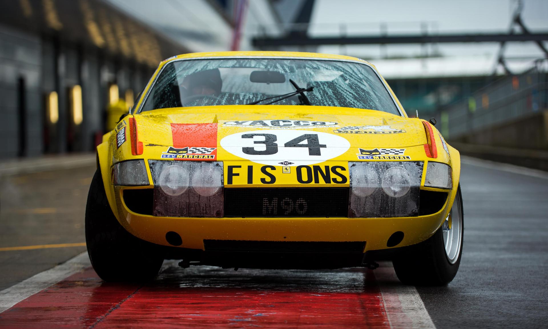 1972 Ferrari 365 GTB 4 Daytona at the 2018 Silverstone Classic Preview Day