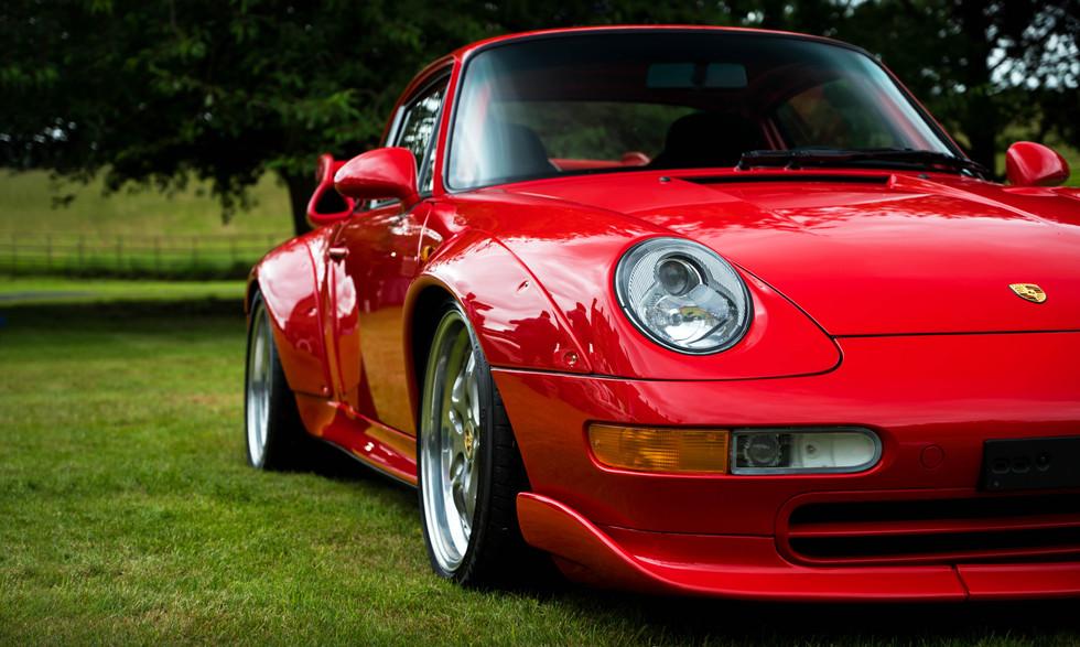 Guards Red Porsche 993 GT2