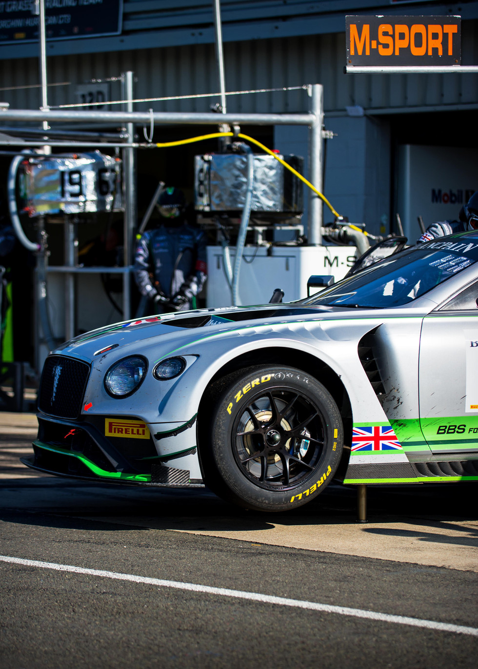 No.7 Bentley Continental GT3 at the 2018 Silverstone Blancpain GT