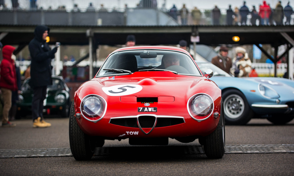 John Bennett's 1965 Alfa Romeo Giulia TZ1 at the Goodwood 76MM