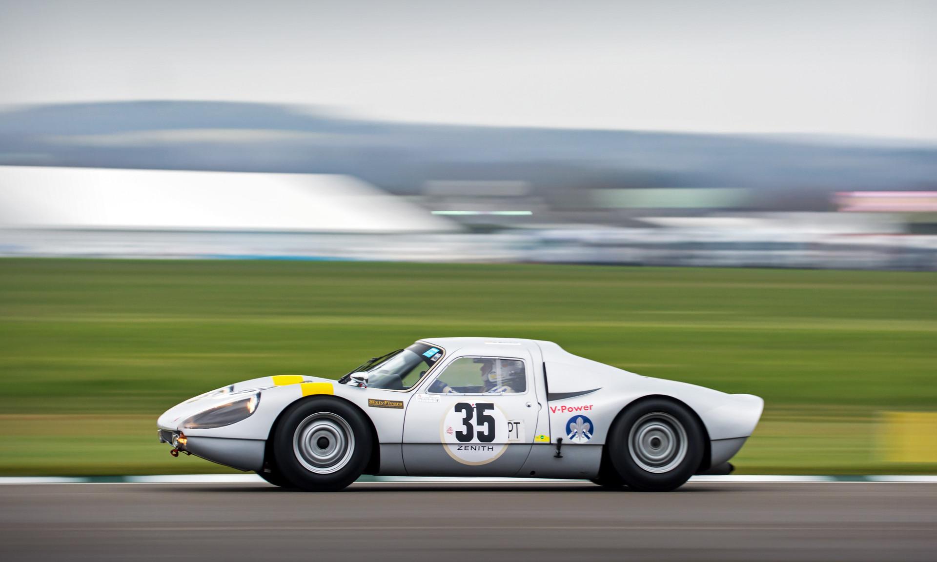 Rainer Becker's 1964 Porsche 904 Carrera GTS at the Goodwood 76MM