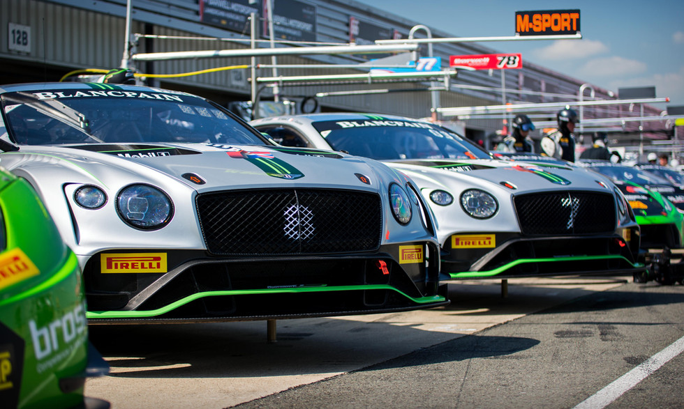 Bentley Continental GT3s at the 2018 Silverstone Blancpain GT