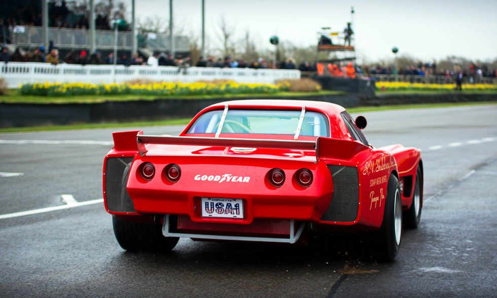 Claes Paulsson's 1977 Chevrolet Greenwood Corvette at the Goodwood 76MM