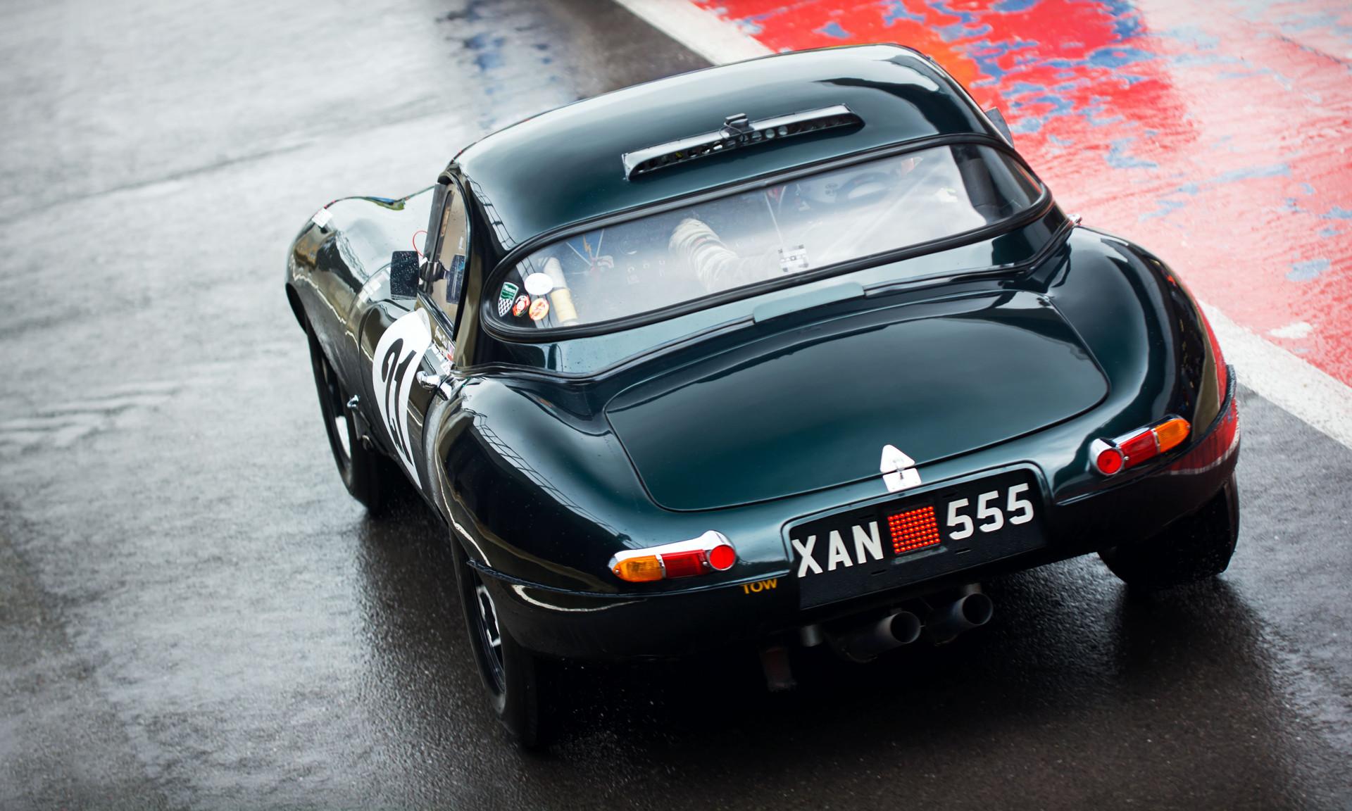 Graeme & James Dodd's 1962 Jaguar E-Type at the 2018 Silverstone Classic Preview Day