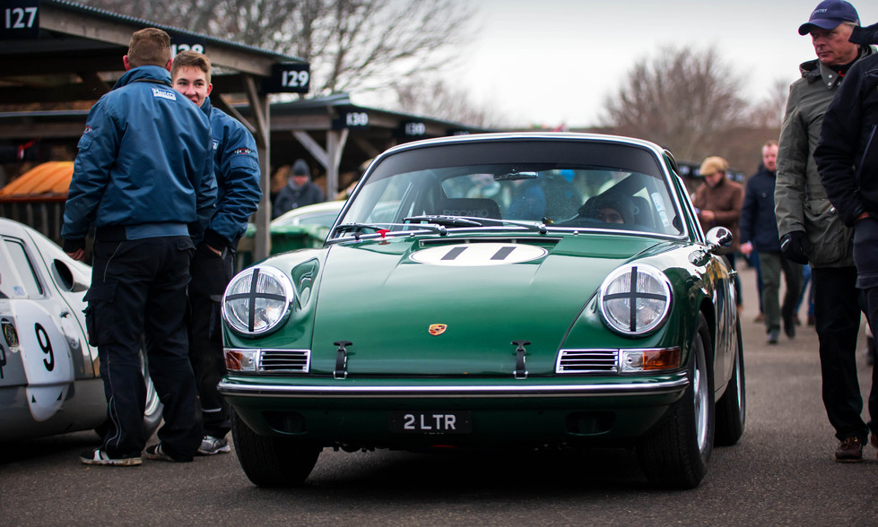 Ian Dalglish's 1965 Porsche 911 at the Goodwood 76MM