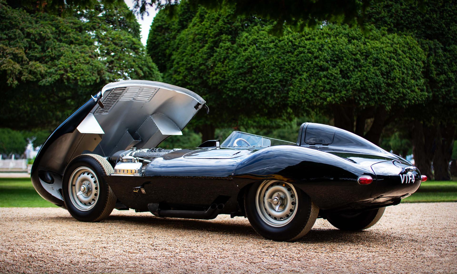 The first production Jaguar D-type