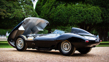 jaguar d-type at hampton court