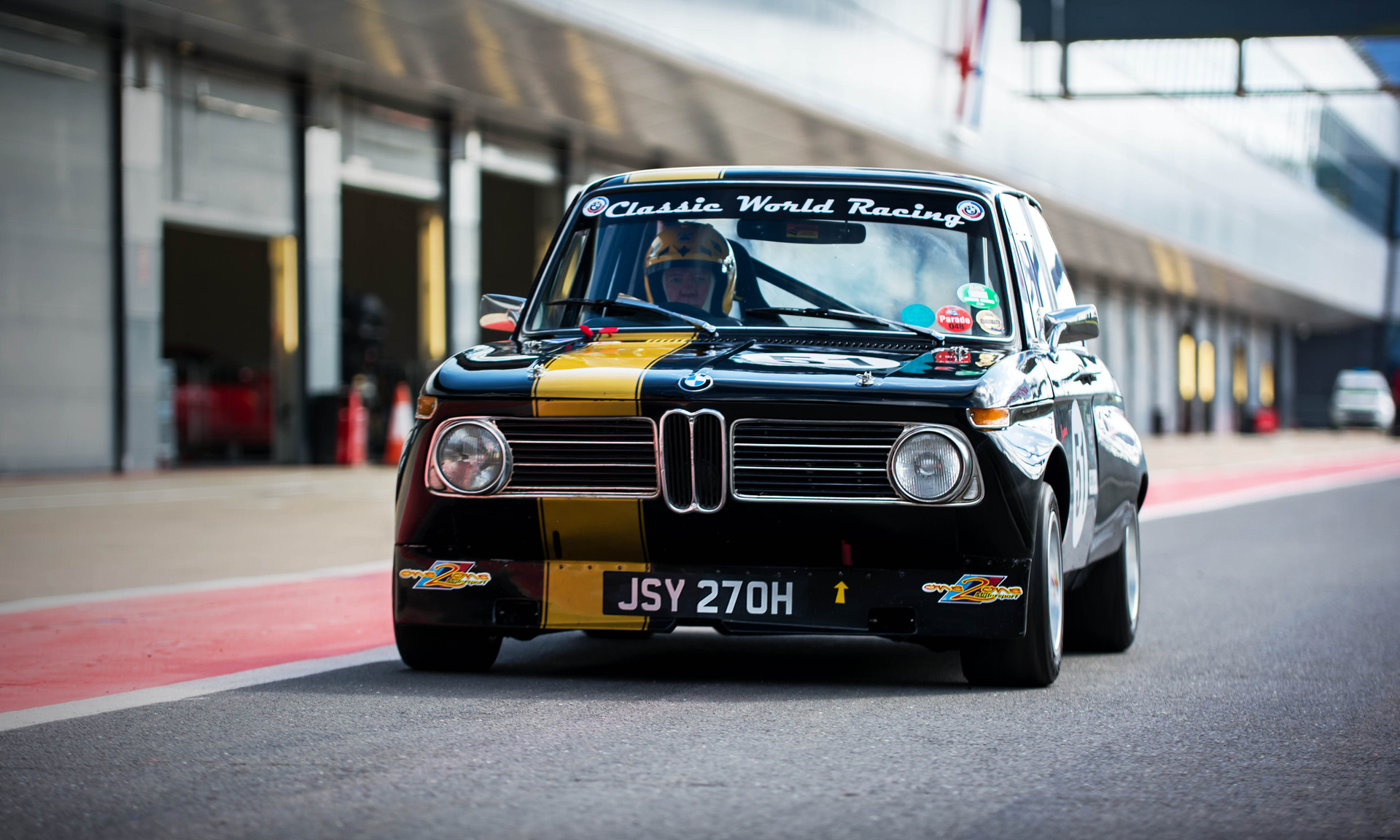 Mike Wilds' 1972 BMW 2002ti at the 2018 Silverstone Classic Preview Day