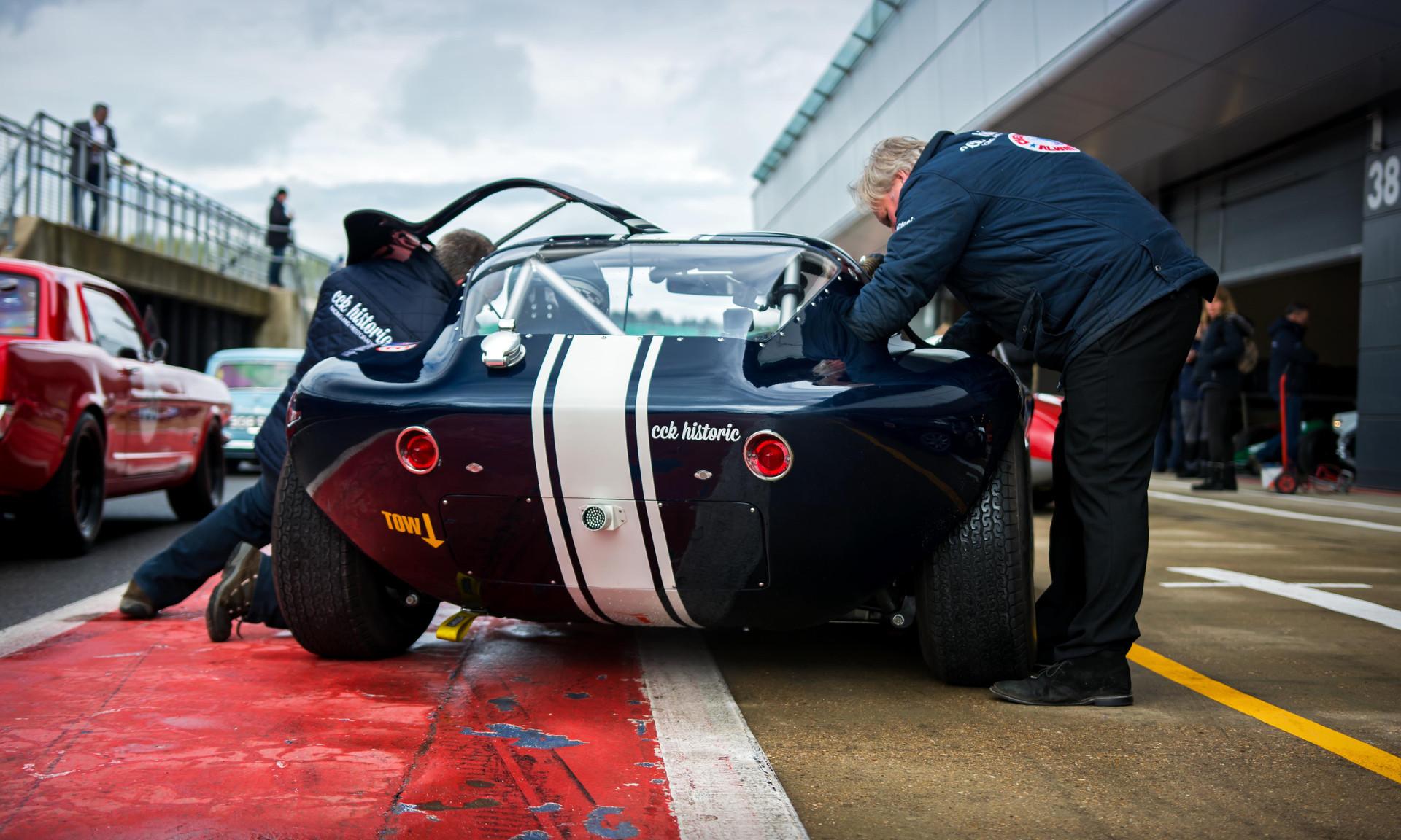 Ian Burford & Shaun Rainford's1964 Cheetah at the 2018 Silverstone Classic Preview Day