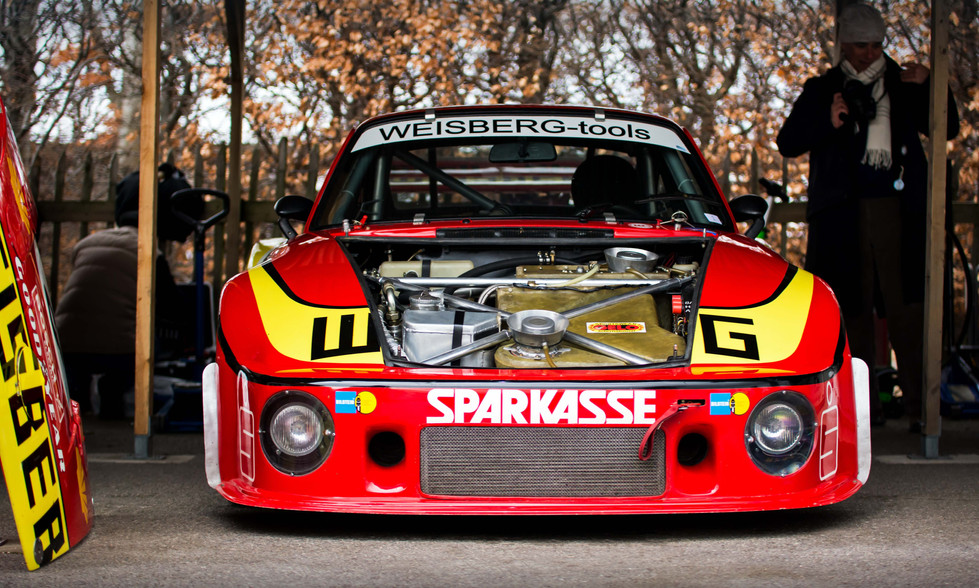 Marc de Siebenthal's 1977 Weisberg Tools Porsche 935 77A at the Goodwood 76MM
