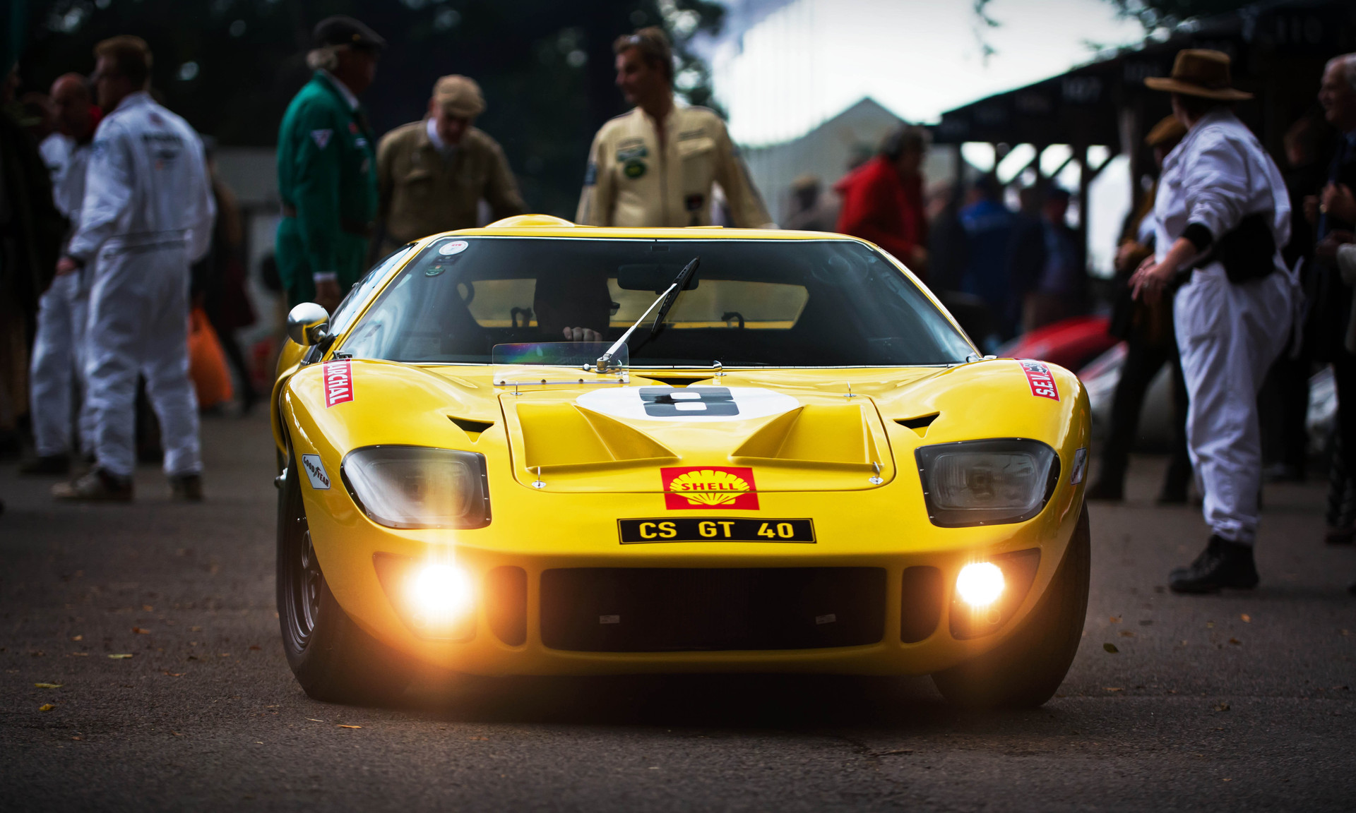Christian Stahl & Nick Padmore's 1968 Ford GT40 at the 2017 Goodwood Revival