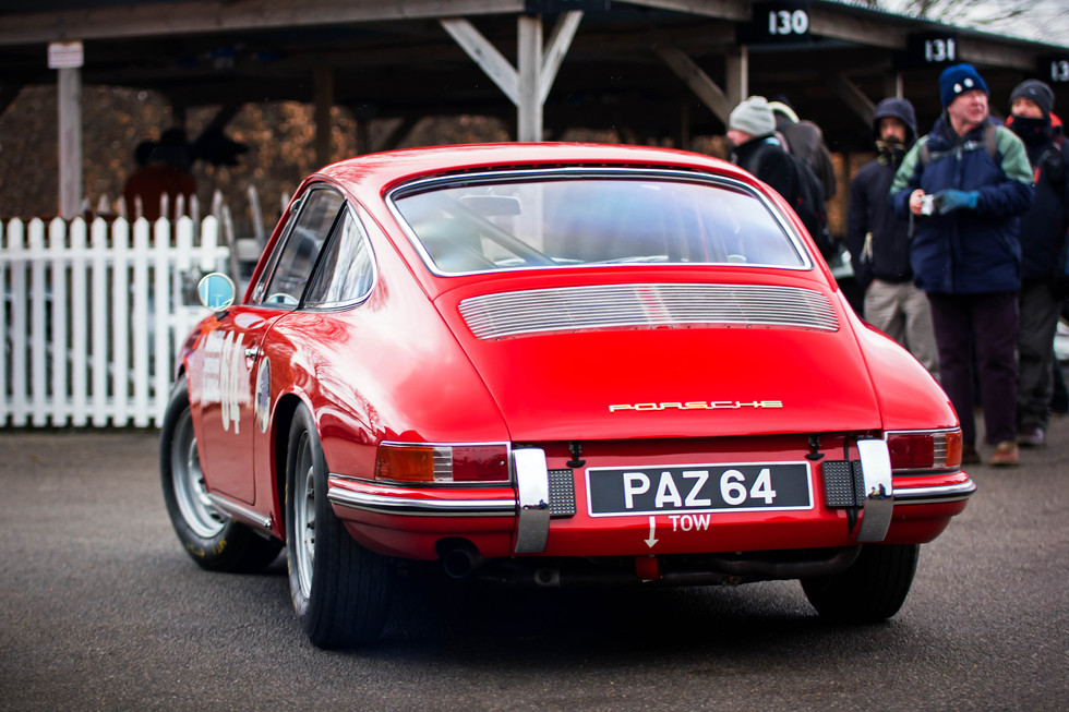 Owem Clay & Lee Maxted-Page's 1964 Porsche 901 at the Goodwood 76MM