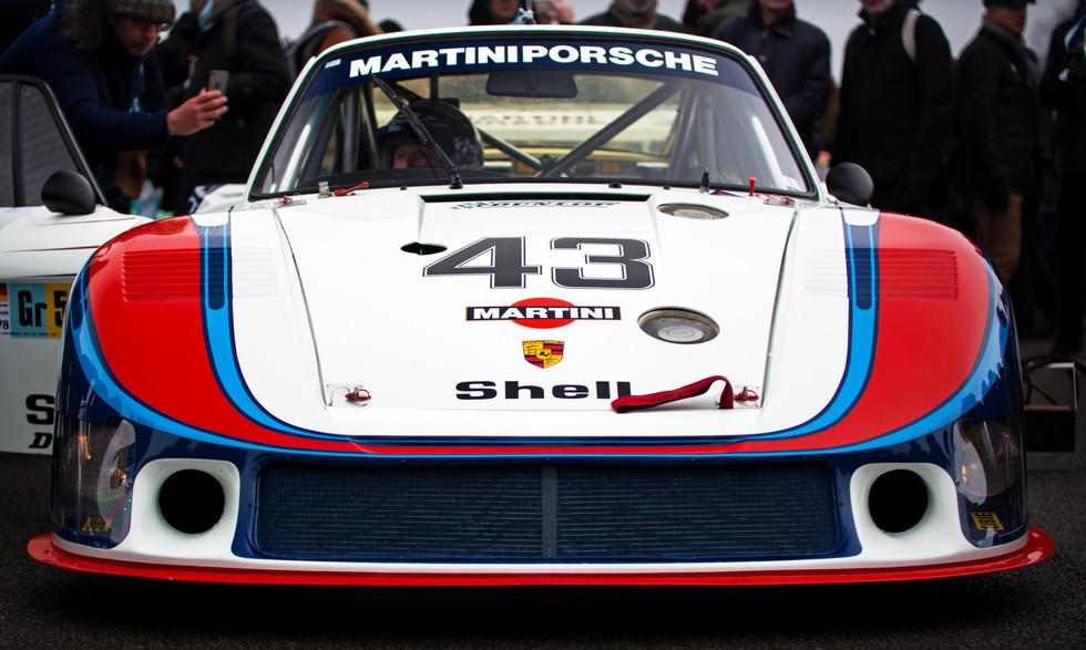 Jochen Mass & Porsche 935 78 Moby Dick at the Goodwood 76MM