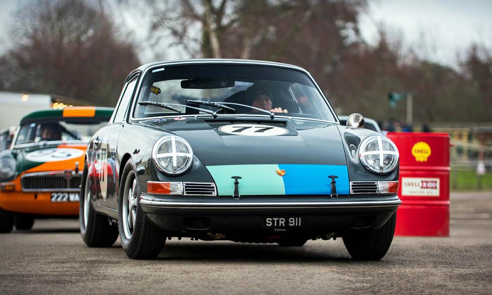 Mark Sumpter's 1965 Porsche 911 at the Goodwood 76MM