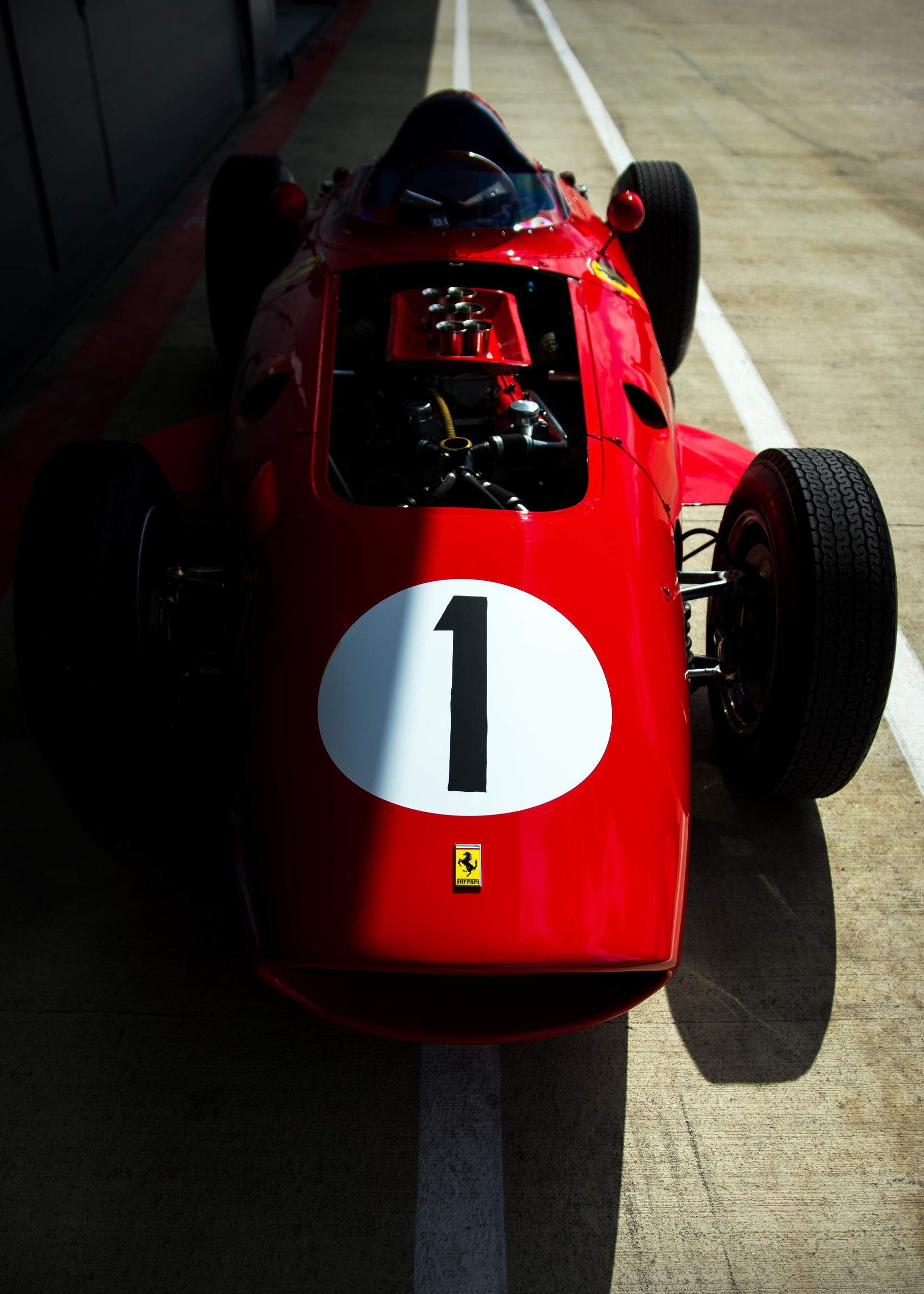 Tony Best's 1960 Ferrari 246 Dino at the 2018 Silverstone Classic Preview Day