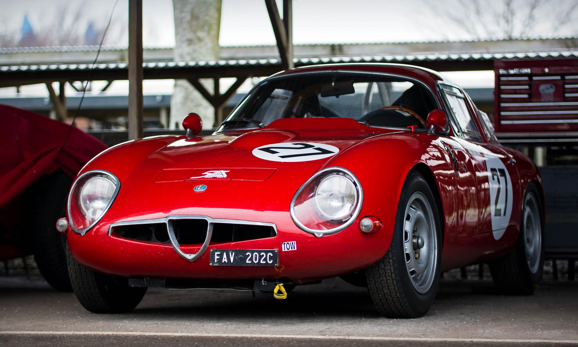 Scuderia del Portello's 1965 Alfa Romeo Giulia TZ1 at the Goodwood 76MM