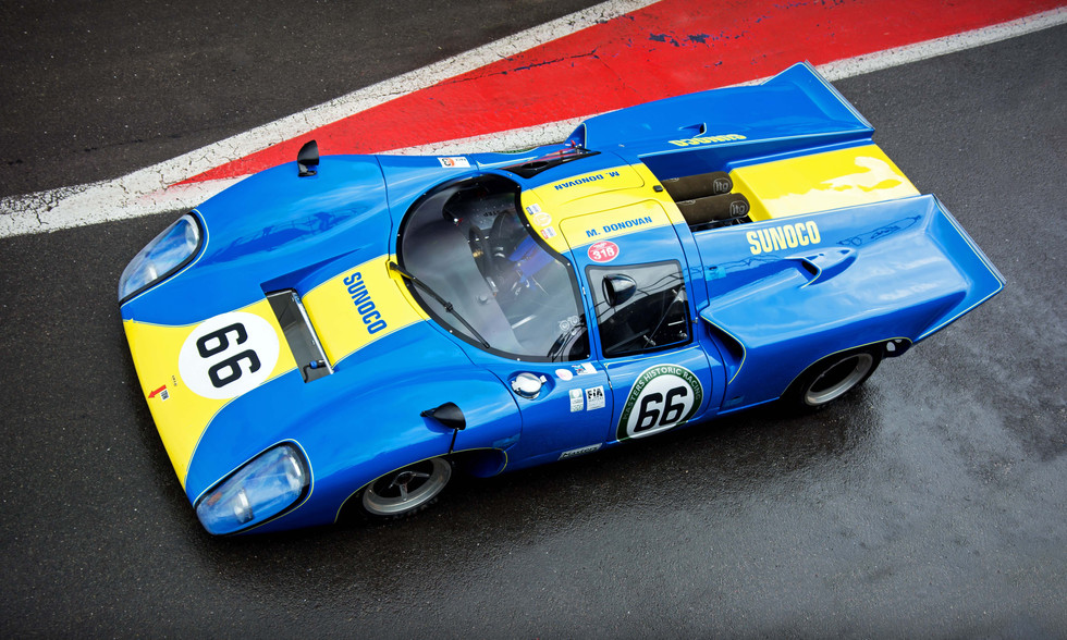 Mike Donovan's 1968 Lola T70 Mk3B at the 2018 Silverstone Classic Preview Day