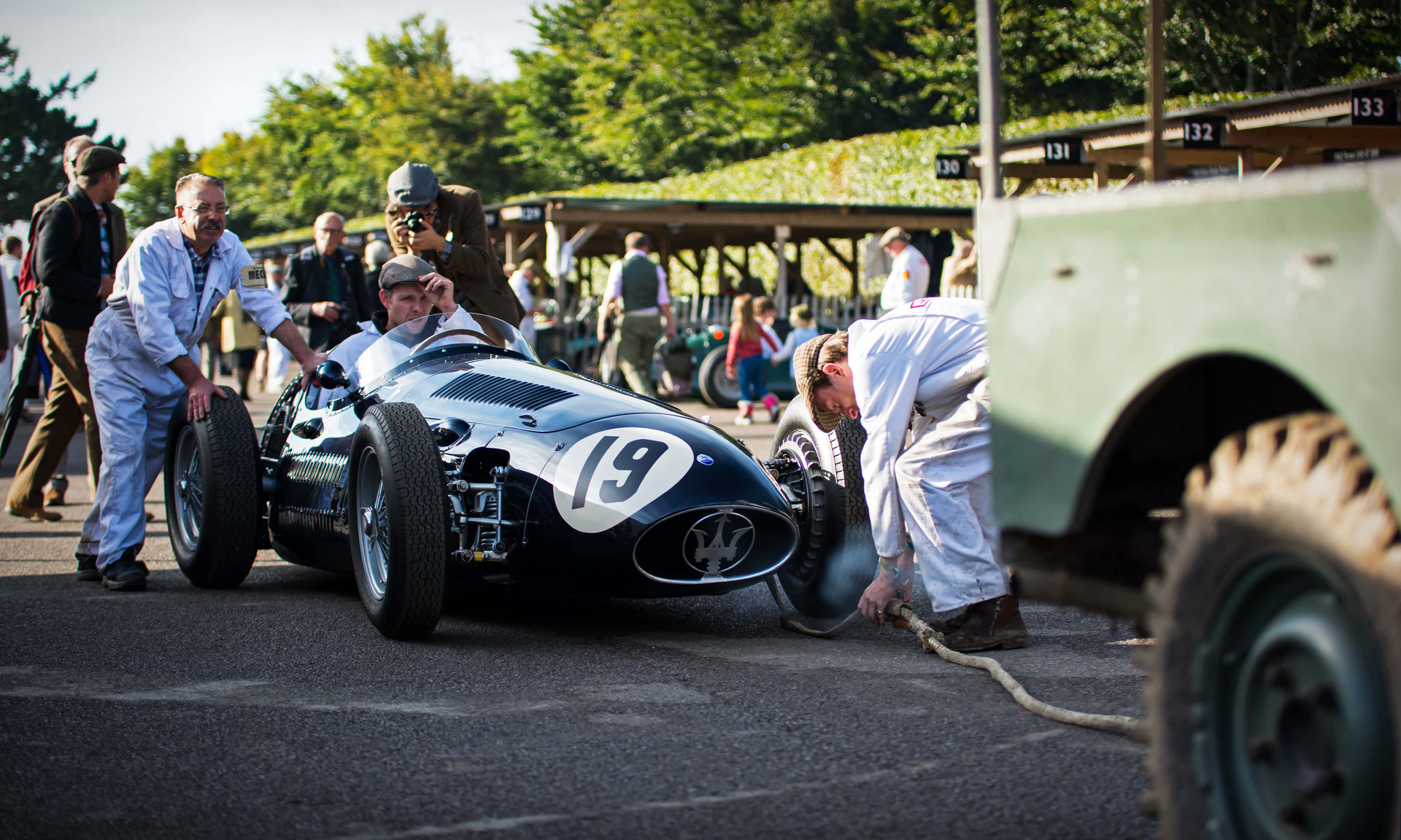 Christian Glaesel & Gary Pearson's 1954 Maserati 250F at the 2017 Goodwood Revival