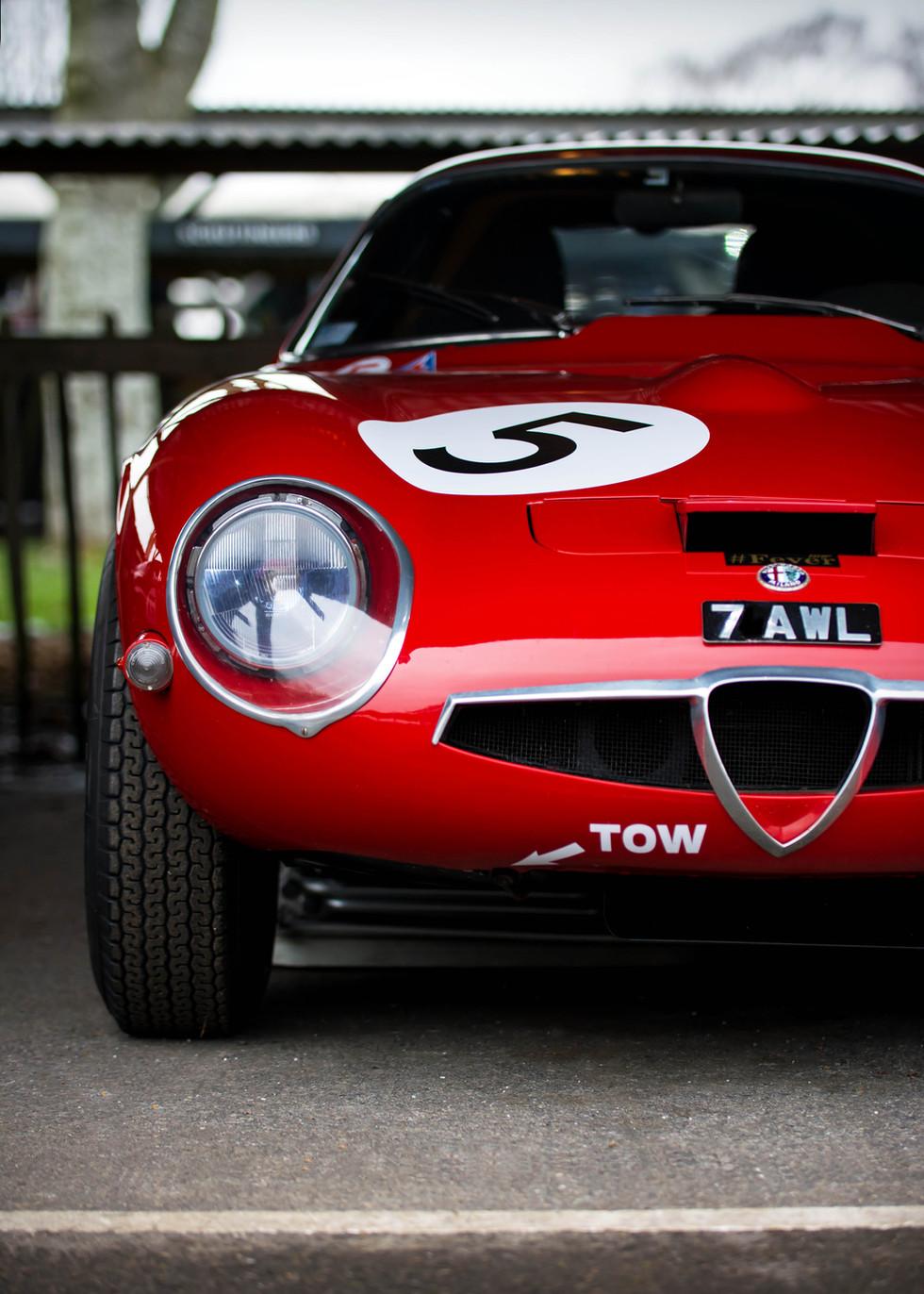 John Bennett's 1965 Alfa Romeo Giulia TZ1 at the Goodwood 76MM