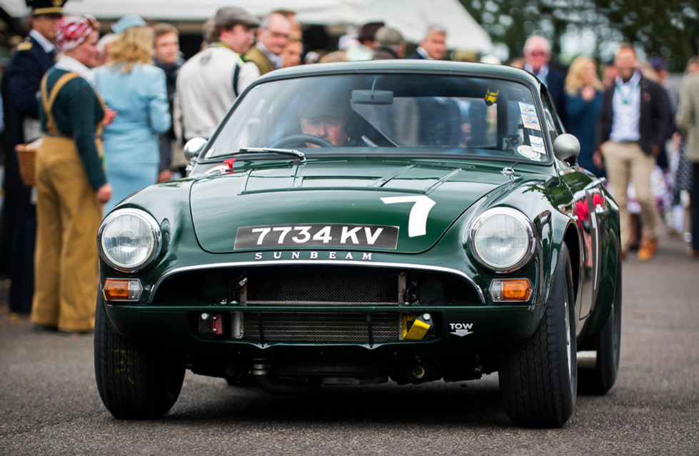 Michael Squire & Nigel Greensall's 1964 Sunbeam Lister Tiger at the 2017 Goodwood Revival